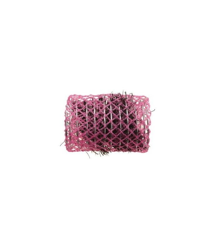 rouleaux mise en plis avec brosse 45 mm 6 pcs rose