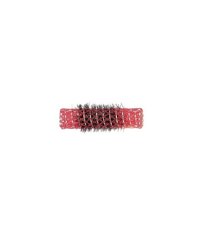 rouleaux mise en plis indéformables avec brosse 15 mm 12 pcs rouge