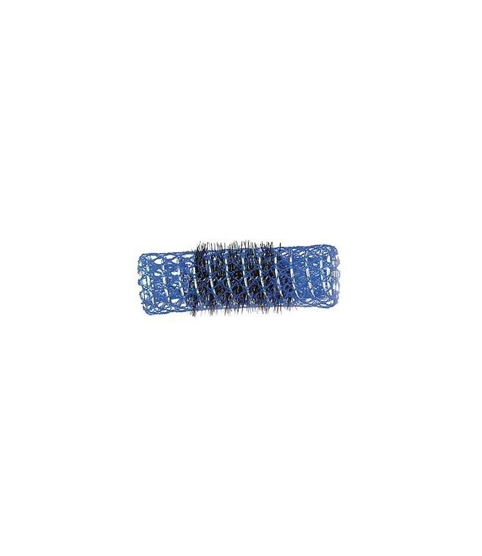 rouleaux mise en plis indéformables avec brosse 20 mm 12 pcs bleu