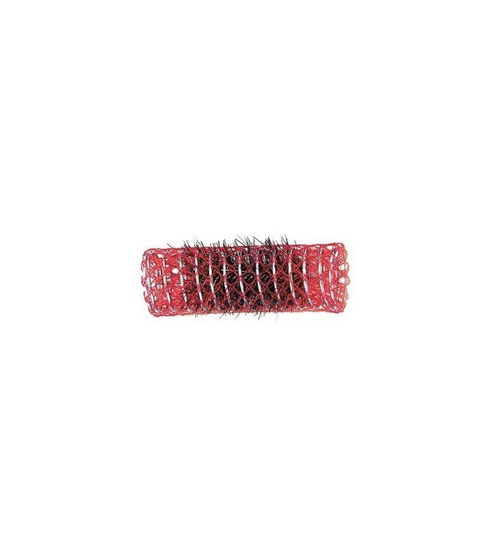 rouleaux mise en plis indéformables avec brosse 23 mm 12 pcs rouge