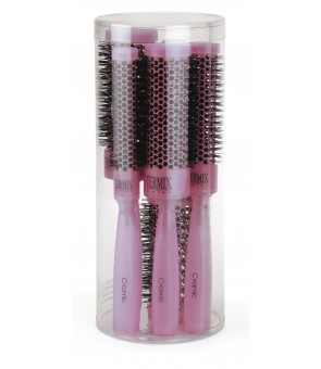 lot 5 brosses termix ceramic fuchsia diamètre 17-23-32-37-43