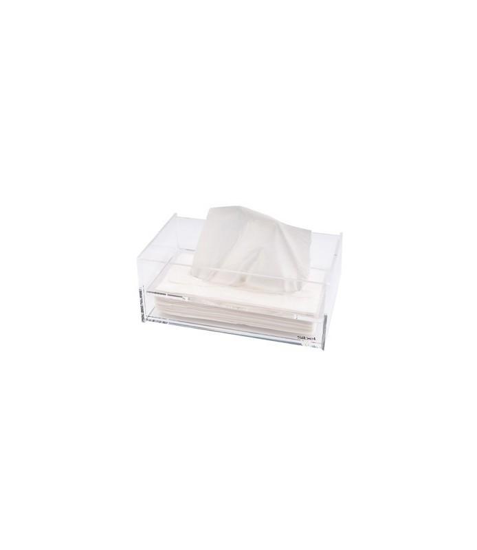 distributeur de mouchoirs en plexi 23x13,5x9,5cm