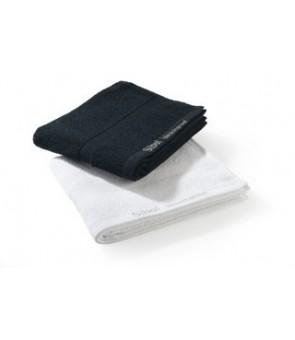 Serviettes 100% coton noire x 12 résistante à la javel 75 x 48 cm