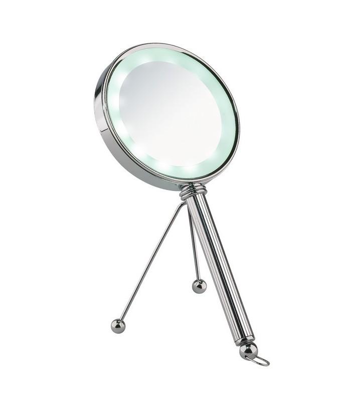 Miroir grossissant x 3 éclairant lampe led diamètre 12.5 cm