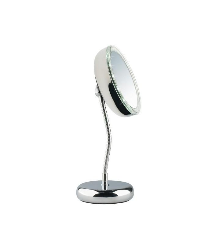 Miroir grossissant x 3 éclairant lampe led diamètre 13 cm