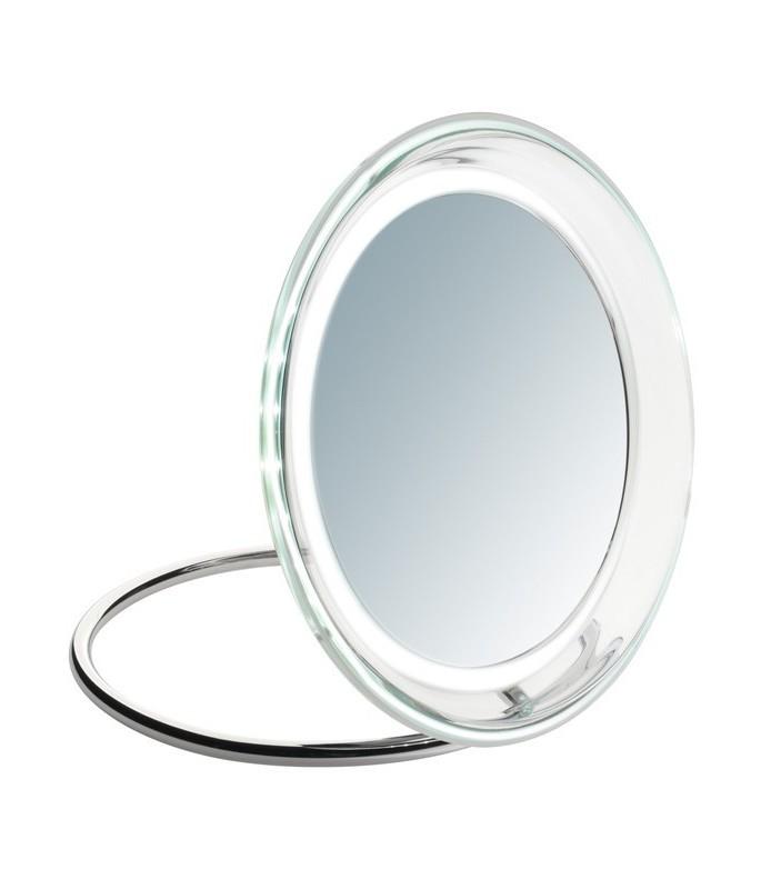 Miroir grossissant x 5 éclairant 19 cm