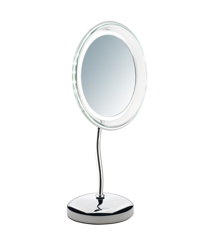 Miroir grossissant x 5 éclairant lampe led et pivotant