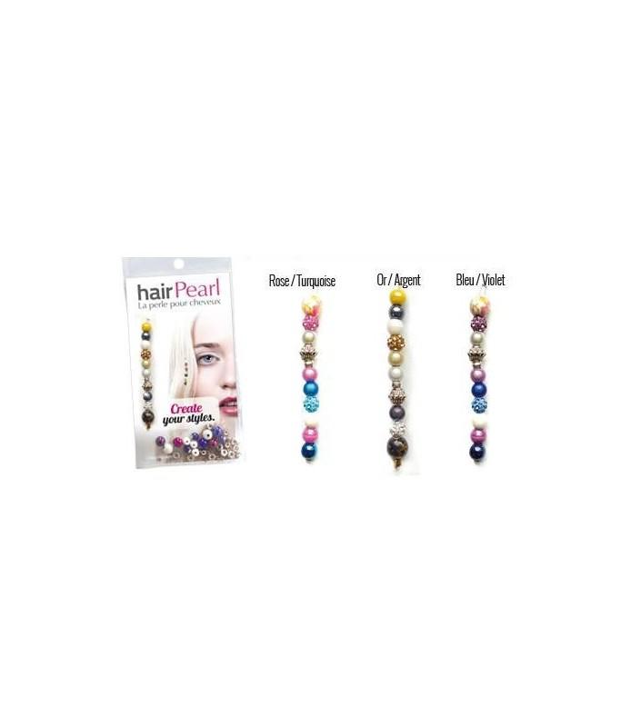Hair Pearl Perles pour cheveux présentoir+ 12 paquets