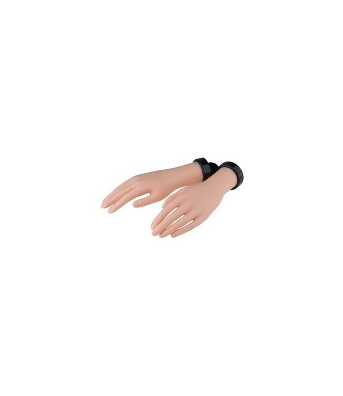 main droite et gauche artificielle à la pratique + ongles + colle