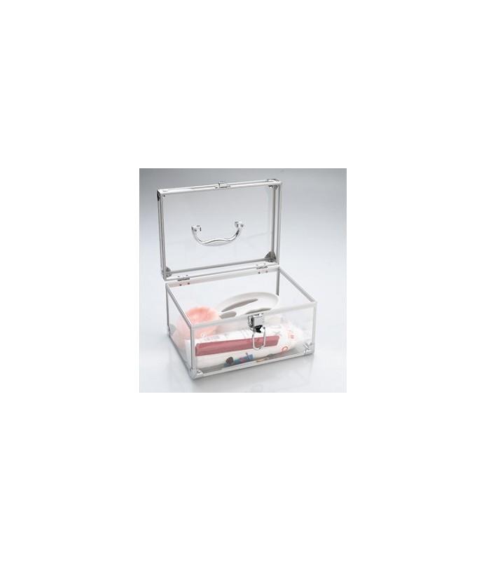 Vanity case alu-plexi 26 x18 x 16 cm