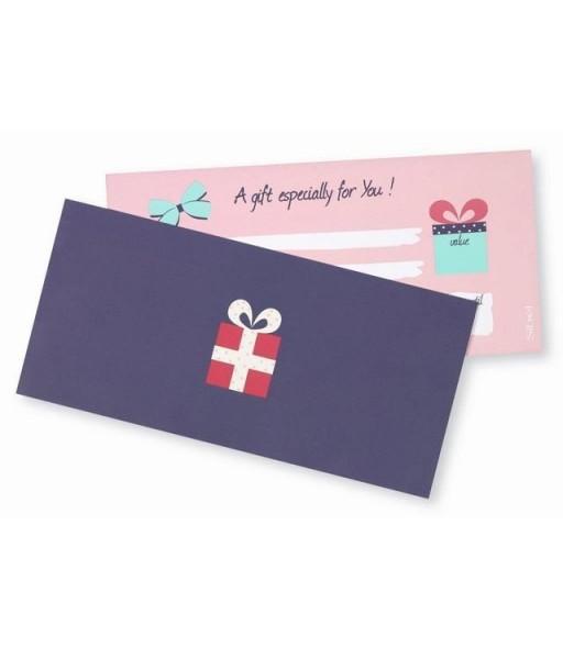 20 bon cadeaux + 20 enveloppes