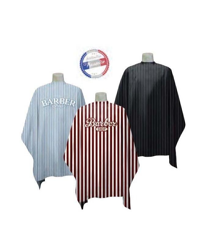 Peignoir cape barbier rayure fines / épaisses