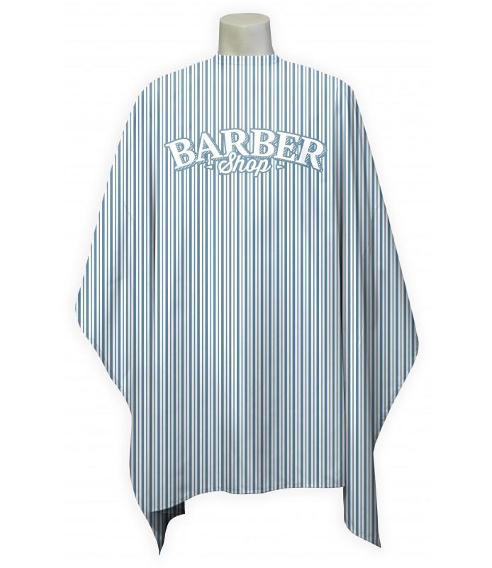 Peignoir cape barbier rayure