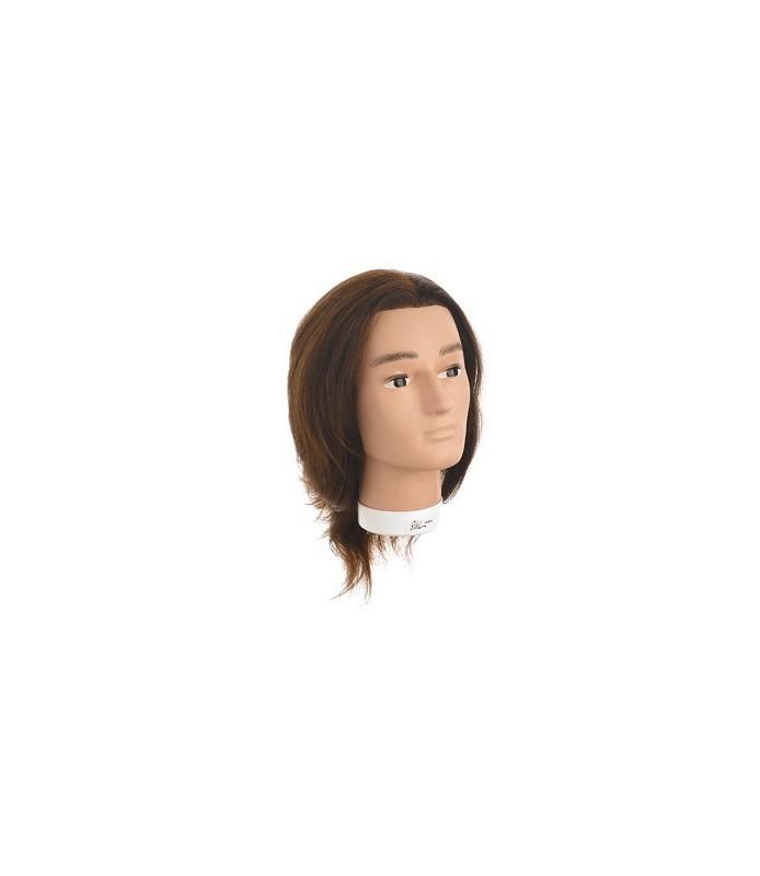 tete malleable bobby cheveux naturels indien 30-35 cm
