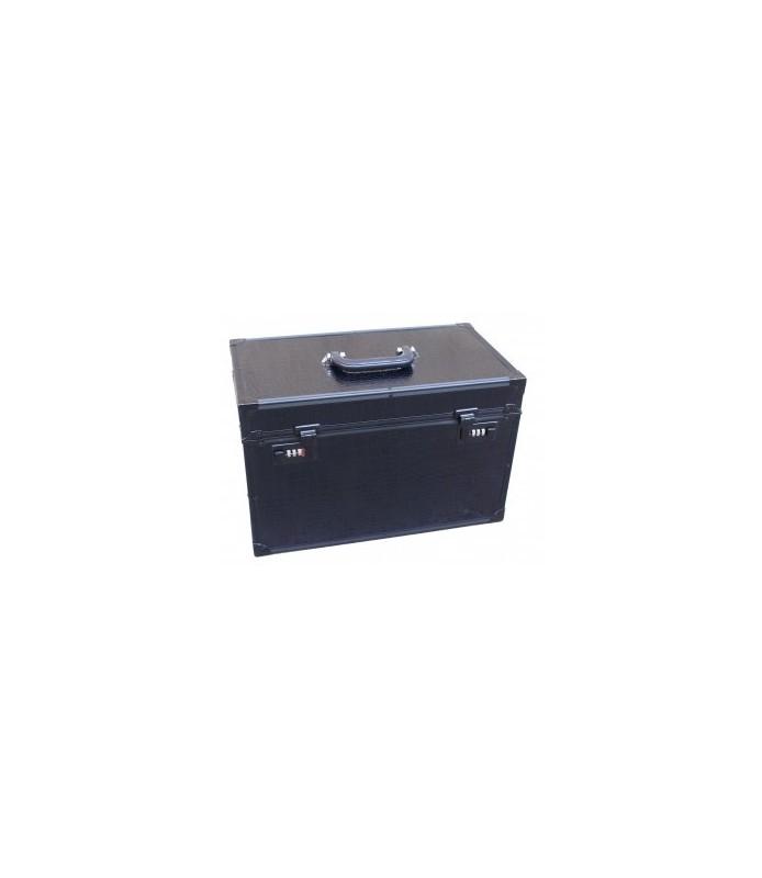 valise noire croco 43x24x28cm
