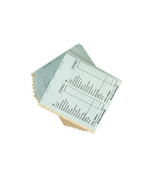 carnet caisse avec numéro coloris blanc 10pcs