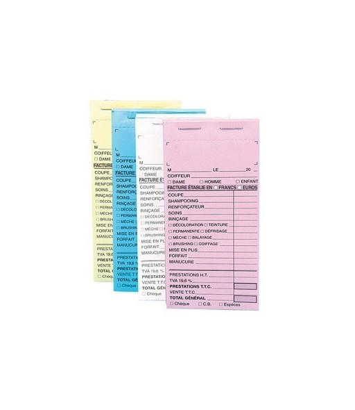 carnet de caisse sans numero coloris jaune 10pcs