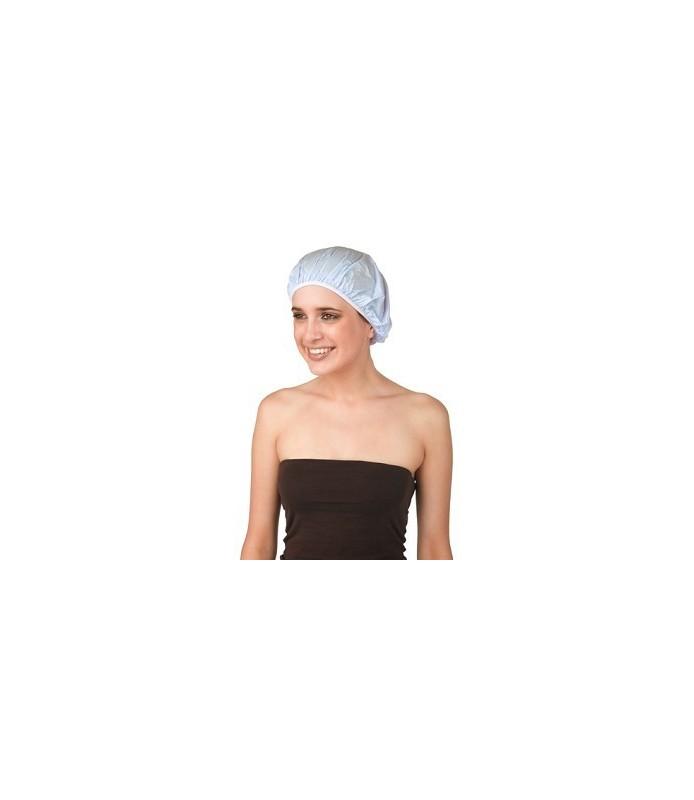 bonnet douche plastique uni bleu ciel