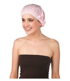 bonnet douche plastique uni rose