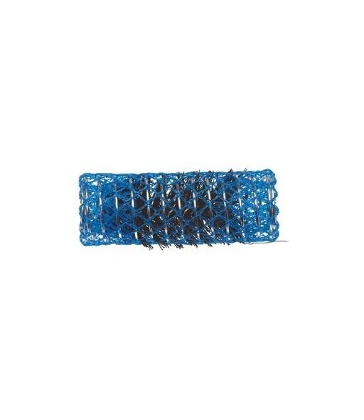 rouleaux mise en plis avec brosse 25 mm 12 pcs bleu