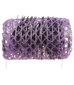 rouleaux mise en plis avec brosse 36 mm 12 pcs violet