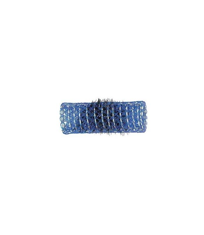 rouleaux mise en plis indéformables avec brosse 26 mm 12 pcs bleu