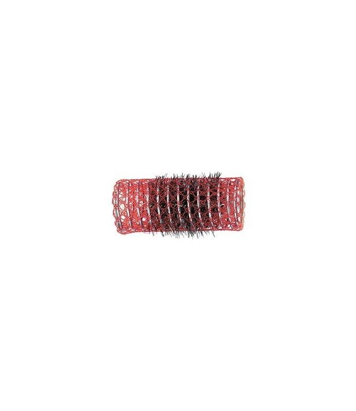 rouleaux mise en plis indéformables avec brosse 30 mm 12 pcs rouge