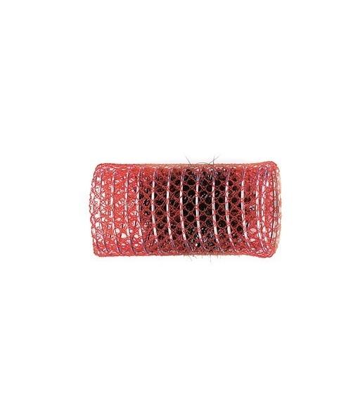 rouleaux mise en plis indéformables avec brosse 40 mm 12 pcs rouge