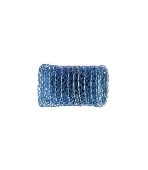 rouleaux mise en plis indeformables avec brosse 50 mm 12 pcs bleu