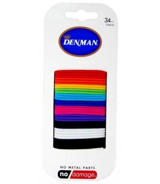 elastiques denman 2mm coloris assortis x 34