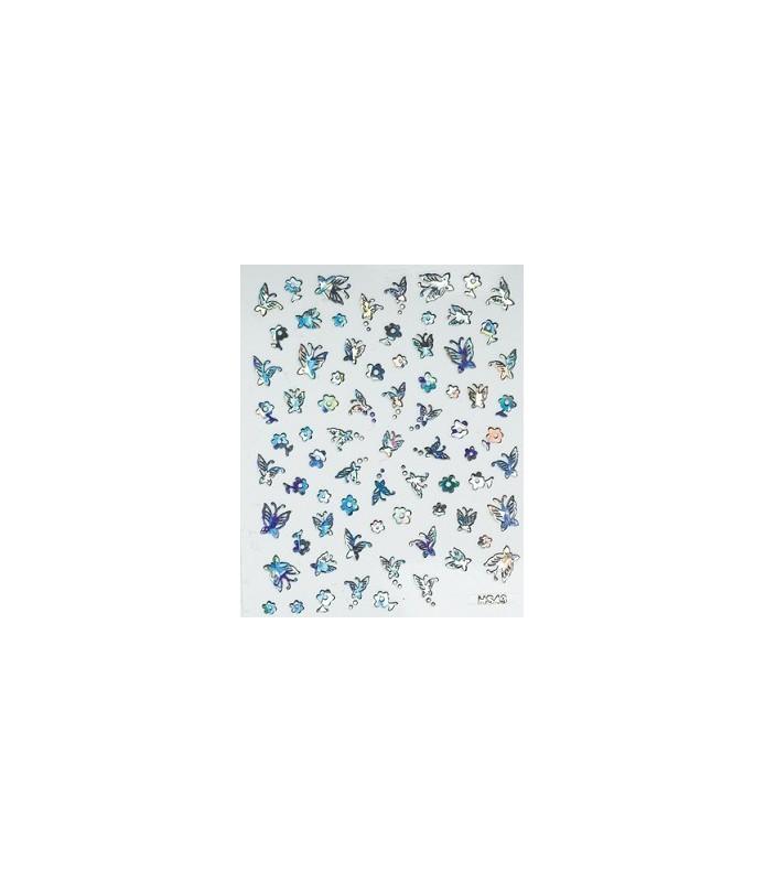 métallique decors adhesifs pour ongles mns 60