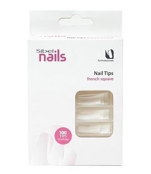 boite de 100 tips french manicure square
