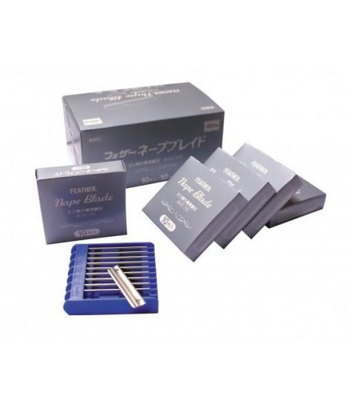 boite de 100 lames (10x10) pour feather nape Ref rasn05