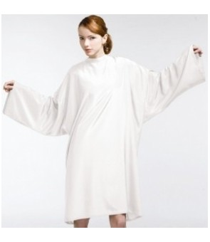 peignoir elfe 100% nylon blanc