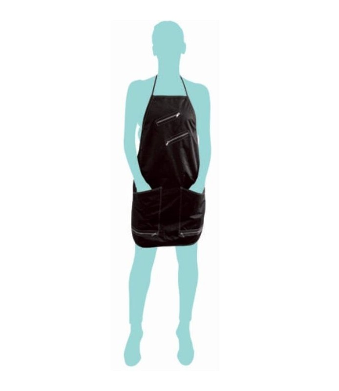 tablier trendy fermeture éclair noir