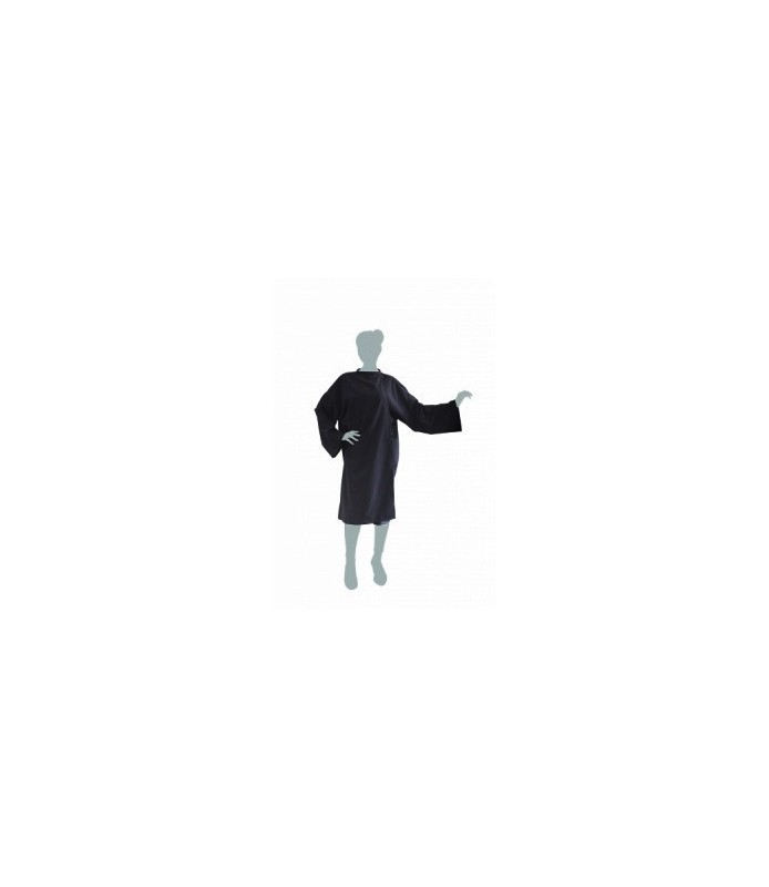 peignoir cape soft noir avec fermeture à crochet