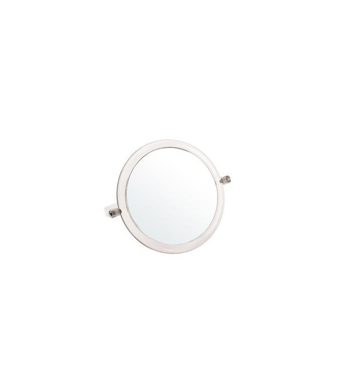 miroir grossissant acrylique x 5 double face diamètre 15cm