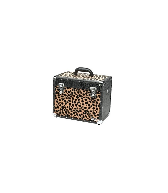 Valise black croco & leopard 36x23x29 cm