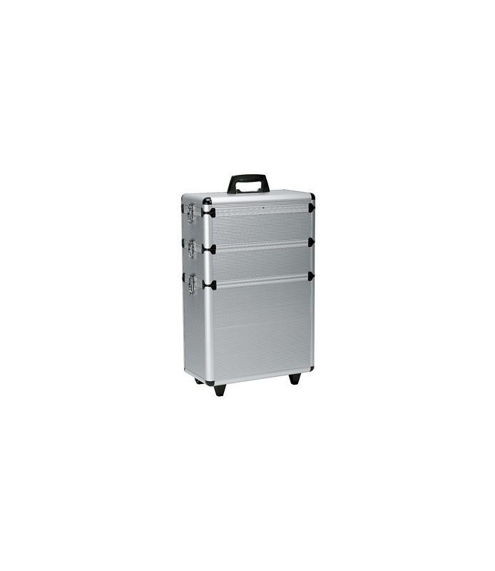 valise alu 3 parties avec roulettes 65x43x22