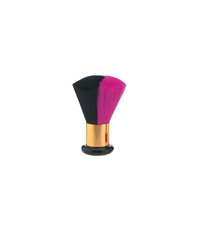 blaireau luxe poils poney rose/noir