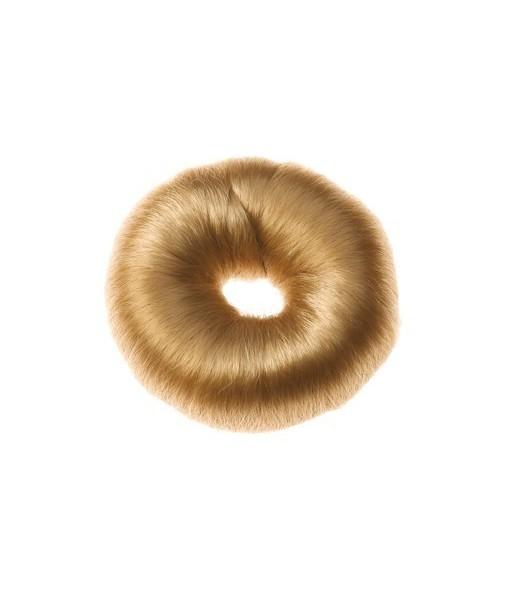 Boubin couronne chignon rond blond 9 cm