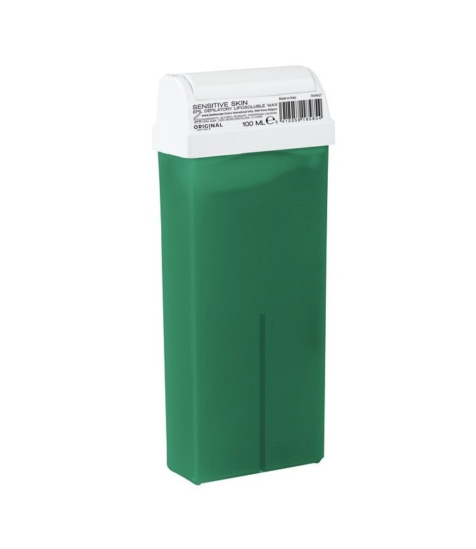 Cartouche de cire peau sensible 100 ml verte