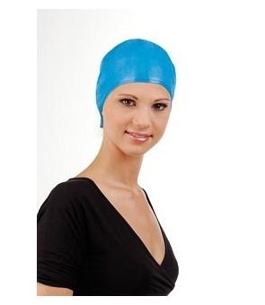 bonnet mèche prétroué bleue...