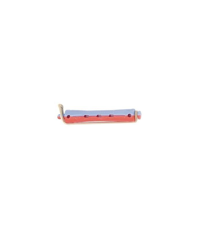bigoudis permanente court 12pcs bleu rouge 10mm