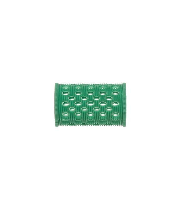bigoudis plastique court epingles 10 pcs verts