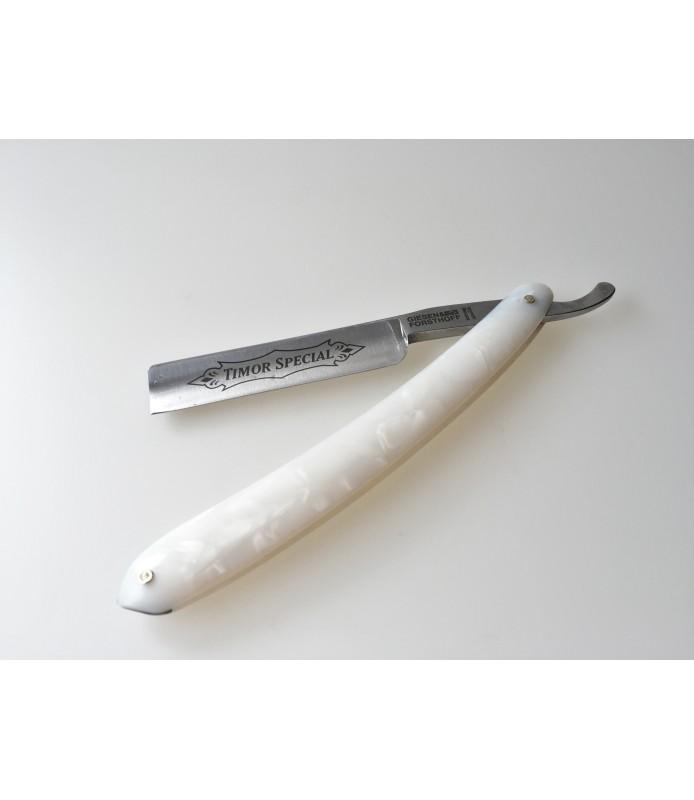 Rasoir coupe-chou lame carbone 5'8 tête droite manche nacre