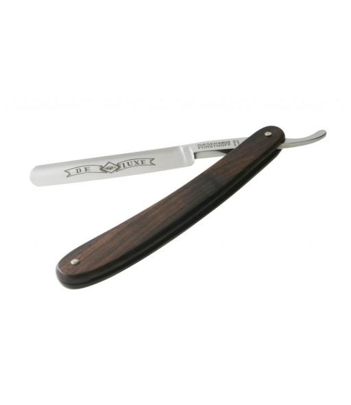 Rasoir coupe-chou lame en carbone 5'8 manche bois foncé