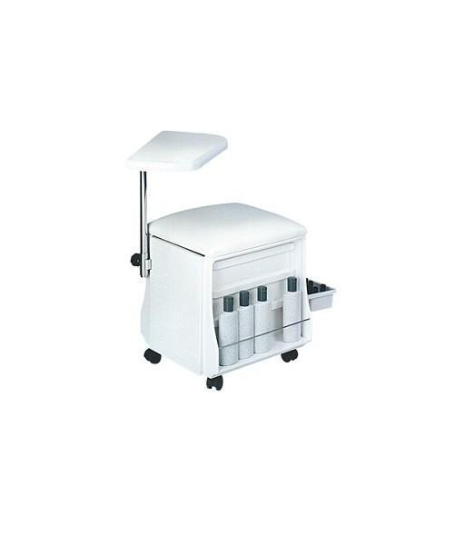 table et siège pour manucure blanc