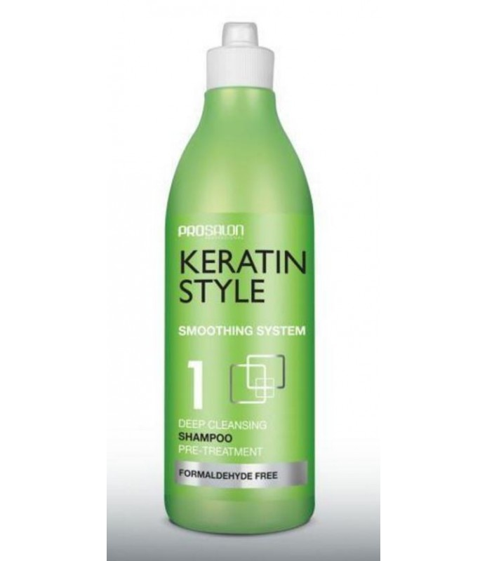 Shampoing avant Lissage bresilien PROSALON KERATIN STYLE 500 ml