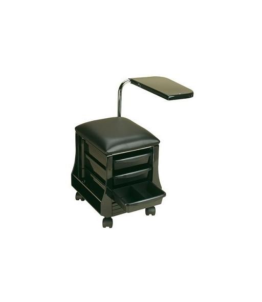 table et siège pour manucure noir